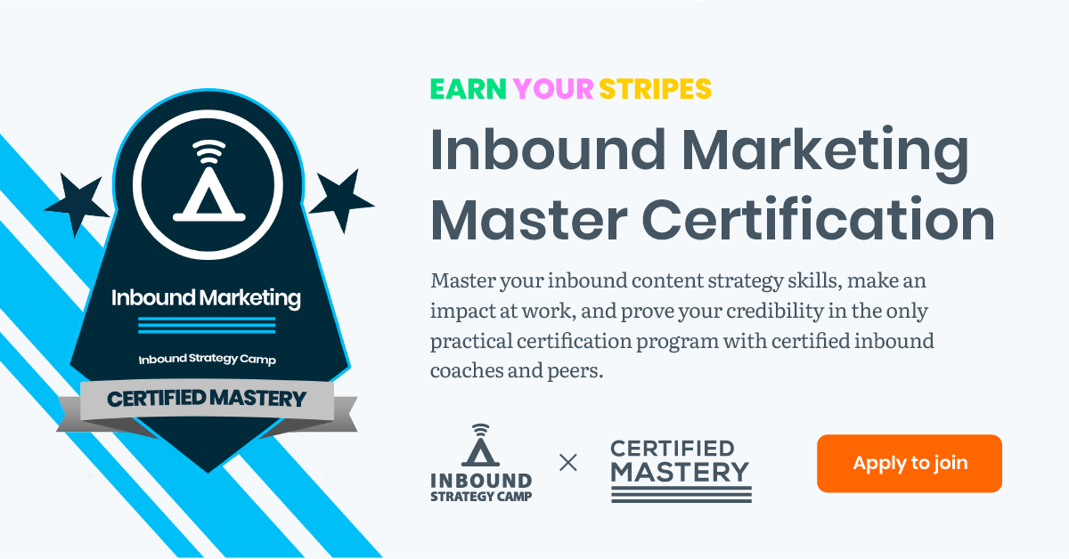 Certified Mastery - Inbound Marketing Master Certification